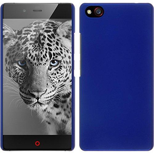 PhoneNatic Hülle kompatibel mit ZTE Nubia Z9 Max - Hülle blau gummiert Hard-case + 2 Schutzfolien