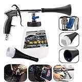 KOBWA - Pistola per la pulizia dell'auto, per interni dell'auto, ad alta pressione, con ugello di pulizia, spruzzatore in schiuma, superficie interna ed esterna