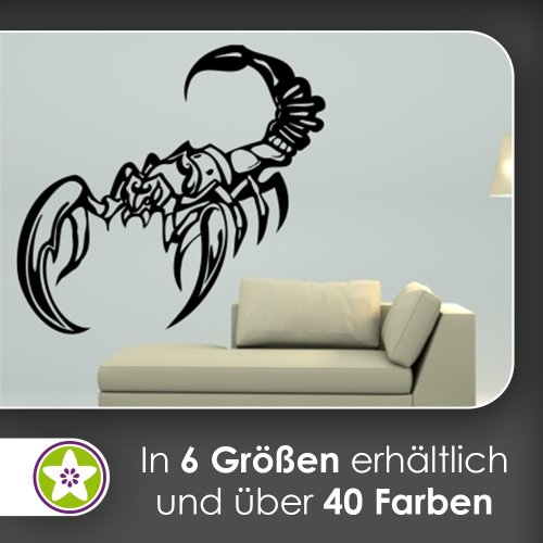 Kiwistar Skorpion Wandtattoo in 6 Größen - Wandaufkleber Wall Sticker