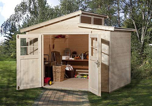 weka Gartenhaus Stufendach 226 Gr.3, natur, 21 mm
