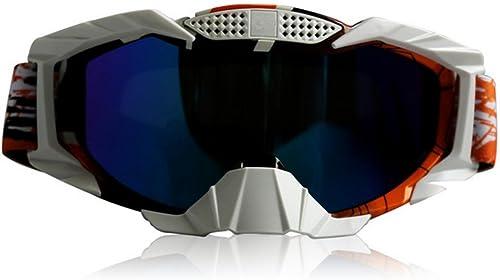 DZW Lunettes de vélo de montagne Moto Lunettes de ski de fond Miroir de ski chaud Lunettes de sablage Lunettes de prougeection , water transfer -5