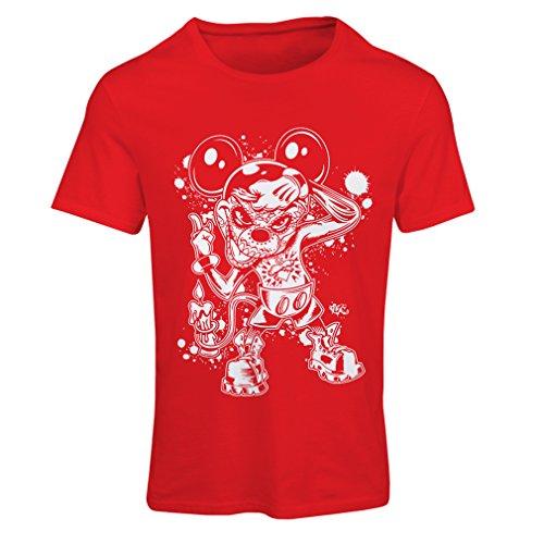 lepni.me Frauen T-Shirt Eine Maus mit einem tollen Halloween-Party-Kostüm (Medium Rot Mehrfarben)