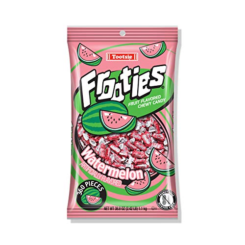 Watermelon Frooties - Tootsie Roll Chewy Candy, Great for Halloween! - 360 Piece Count, 38.8 oz Bag