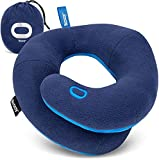 BCOZZY Chin Supporting Travel Pillow- Unique Patented Design Offers 3 Ergonomic Ways to Support The Head, Neck, and Chin When Traveling and at Home. Fully Washable. Large, Navy