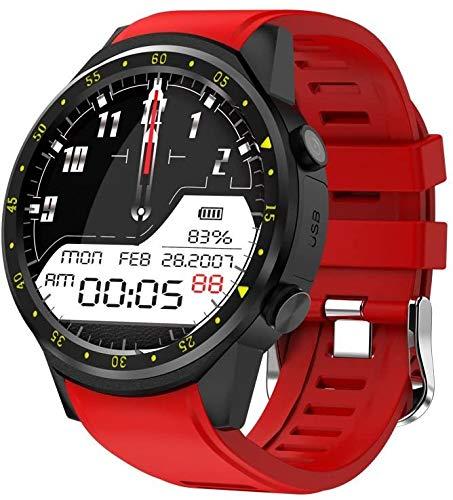 NO BRAND Reloj Inteligente para Hombres con Tarjeta SIM Cámara F1 Relojes Inteligentes Detección de frecuencia cardíaca Teléfono Deportivo Reloj Conectado Reloj Android iOS Rojo