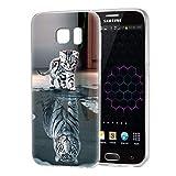 Zhuofan Plus Samsung Galaxy S7 Hülle, Silikon Transparent