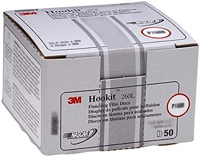 3M Hookit Finishing Film Abrasive Disc 260L, 00910, 3 in, P800, 50 discs per carton