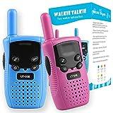 Walkie Talkies para niños, Regalos para niños de 3 a 12 años, niños, niñas, niños y Adultos, DELT, Paquete de 2 Juguetes Divertidos de Larga Distancia para Interiores, Juguetes de Radio de 3 Canales