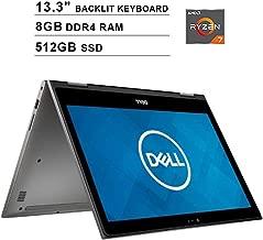 Dell 2019 Inspiron 13 7000 13.3 inch FHD 1080P 2-in-1 Touchscreen Laptop, AMD Ryzen 7 2700U up to 3.8GHz, AMD Radeon Vega 10, 8GB DDR4 RAM, 512GB SSD, Backlit Keyboard, Bluetooth, WiFi, Windows 10