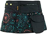 Guru-Shop Wickelrock, Cacheur, Sidebag, Damen, Schwarz, Baumwolle, Size:S/M (38), Röcke/Kurz Alternative Bekleidung