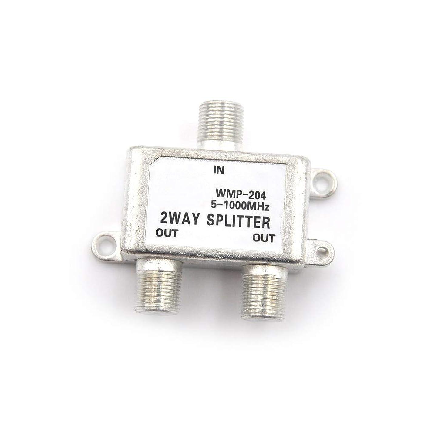 Gimax 2-Way MoCA 5-1000 MHz Connector Satellite TV Receiver Designed for SATV/CATV HD Digital Coax Cable Splitter Bi-Directional