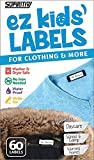 Ez Kids Clothing Labels Self-Stick No-Iron Write-On | Great for Children & Adults | Washer & Dryer Safe |...