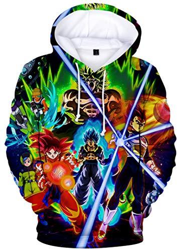Silver Basic Sweat-Shirt à Capuche Garçon Dragon Ball Super Pull 3D Enfant Unisexe Sweat Goku Goku 2730-3