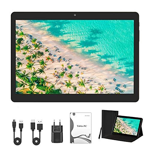 Tablet 10-Zoll, Android 10,Tablet PC mit Quad-Core-CPU, 4 GB RAM, 64 GB ROM, IPS HD Bildschirm(1280x800), Type C, WiFi/GPS/Bluetooth 4.0.