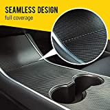 HumanFriendly Tesla Model 3 Center Console Wrap Kit by EV Armor - Carbon Fiber Black