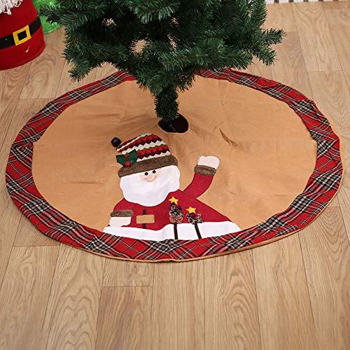 ASR Weihnachtsmann Weihnachtsbaumdecke Christmas Tree Stand Covers Bodendekoration Weihnachtsdekorationen 105cm