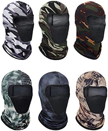 6 Pieces Balaclava Face Mask Breathable Sun Dust Protection Mask Long Neck Face Cover for Outdoor product image