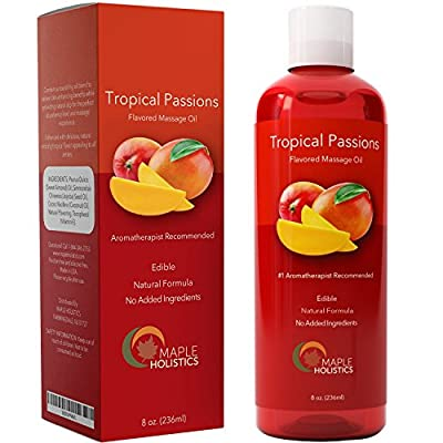 Sensual Massage Oil for Women and Men ? Edible Natural Aphrodisiac Formula ? Jojoba Body Oil Moisturizer for Soft Smooth Skin ? Calming Coconut Oil is Great for Therapeutic Deep Tissue Massage