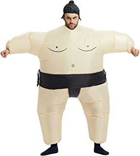 TOLOCO Inflatable Adults Sumo Wrestler Wrestling Suits Halloween Costume, One Size Fits Most