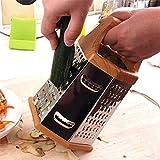 N\C Rallador de Caja Profesional, Acero Inoxidable 6 Lados, más Adecuado para Queso parmesano, Verduras, Jengibre