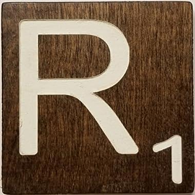 Large Scrabble Letter Tile (5 x 6 CREAM, R)
