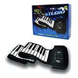 Rock and Roll It - Studio Piano. Roll Up Flexible USB MIDI Piano Keyboard for Kids & Adults. 61 Keys Portable Controller Keyboard. Foldable Silicone Piano Pad with Built-in Speaker