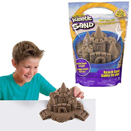 Kinetic Sand-Beach Sand Arena de Playa, 1,4 kg, Color no se Puede aplicar, 1, 4 kg (Spin Master...