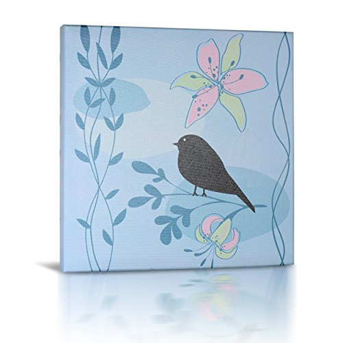 Green Frog Canvas Gallery Wrapped Art Decor, Little Birdie I by Green Frog