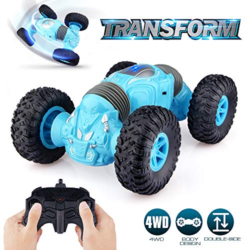 Epoch Air Remote Control Car, Kids Toys RC Off-Road Stunt Car with Double-Side 4WD Transforming Truck Radio Controlled Vehicle Gifts for Boys Girls Teenagers Indoor Outdoor Garden Games