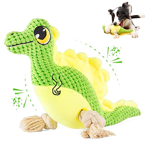 SUNGUY Squeaky Dog Toys, Plush Dog Toy with Squeakers, Durable Dog Toys, Puppy Chew Toys, Pet Toys for Small, Medium Dogs