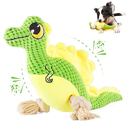 SUNGUY Juguetes para perros de peluche interactivo, juguetes para perros resistentes con sonido y cuerdas y papel arrugado para perros pequeños y medianos.