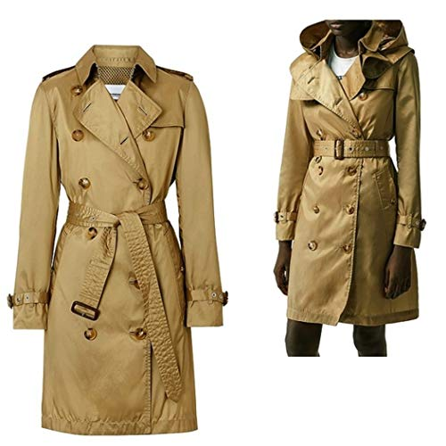 Burberry Trench Donna in ECONYL® con Cappuccio Staccabile (Beige, 36 IT)