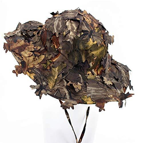 3D Blätter Camouflage Ghillie Caps Sniper Hüte Camo Sonnenschutz Baseball Caps für Angeln Jagd Airsoft (Unisex)