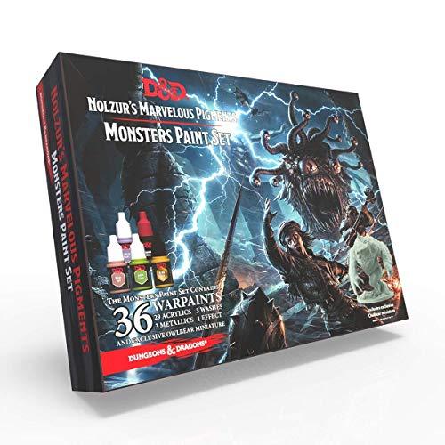 The Army Painter | Dungeons and Dragons Nolzur's Marvelous Pigment Monster Farbset | 36 Acrylfarben | Miniatur zum Bemalen | für Rollenspiele und Tabletop | Wargames Miniatur Modell-Malerei