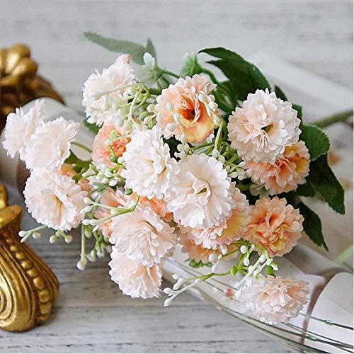 WSXOKN Künstliche Gefälschte Blumen Lila Weißer Herbst Kleine Seidenblumenstrauß Wohnkultur Weihnachtsfeier Hochzeitsdekoration Champagnerblumen
