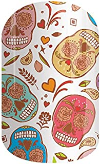 Calaveras Dulces - Jamberry Nails - 33A9 - Full Sheet - Dia De Los Muertos Sugar Skulls