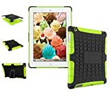 New Ipad Case Cover Shockproof Rugged Hard For New iPad 9.7 inch 2017 Version Model numbers A1822 A1823 MP2G2LL/A MP2J2LL/A MPGT2LL/A MPGW2LL/A MP2F2LL/A MP2H2LL/A (Black + Green )