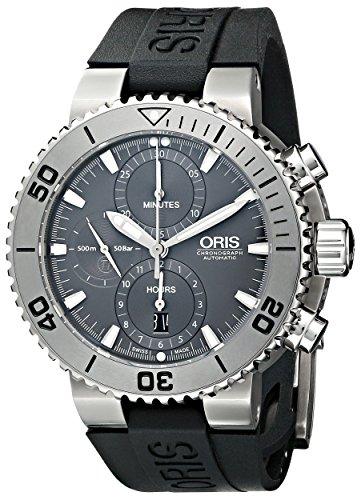 Oris Men's 67476557253RS Divers Analog Display Swiss Automatic Black Watch