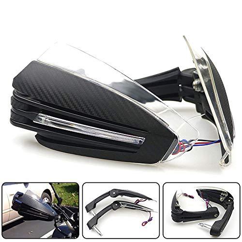 CONRAL 1 Paar Universal Handschalen Inks und rechts mit LED-Licht Handschutz Protektoren Motorrad für ATV Dirtbike MX 7/8