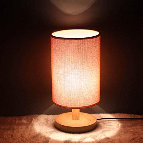 Chambre Décoration de chevet Étude Living Room Bois massif Gradation Lampe de table (couleur : C)