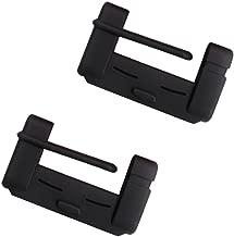 BleuMoo Car Seat Belt Buckle Covers Universal Anti Scratch Provide Prevention Cover Silica Gel Damping Car (black)