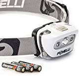 Foxelli LED Headlamp Flashlight - for Adults & Kids, Running, Camping,...