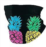 Pineapple Neon Pop Art Black Multifunctional Headwear Face Cover Headband Neck Gaiter-one_color-