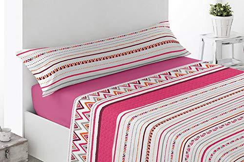 Energy Colors Textil-Hogar - Delfy - Juego Sábanas Completo