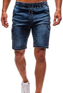 7102410781b7a BEKUTY Short De Travail Homme Chantier Short Homme Pas Cher Short Homme  Travail Jeans Slim en