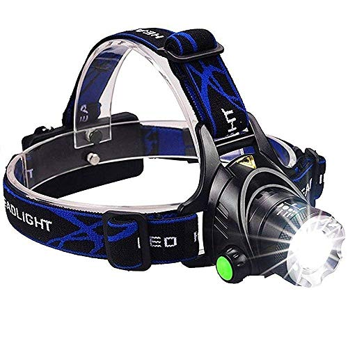 Sampton Best Super Bright Headlamp Light | Rechargeable Head Torch | Hands Free Head Flashlight LED Lmap Water Resistant Drop Resistant Head Lamp Spotlight for Camping Fishing Running Cycling