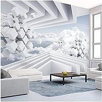 Xbwy 壁の装飾壁画カスタム写真の壁紙現代抽象的なスペース青い空と白い雲壁画リビングルーム-280X200Cm