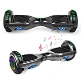 YHR Hoverboard 6.5' Two-Wheel Self Balancing Hover Board with Bluetooth Speaker and LED Lights Hoverboard for Kids and Adults with UL2272 Certified