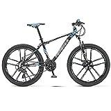 WPW Bicicleta de Montaña de 26 Pulgadas, Bicicleta Todoterreno para Hombres y Mujeres de 30 Velocidades, Bicicleta, 10 Ruedas de Cuchillo, Freno de Disco Doble (Color : Azul, Talla : 26inches)