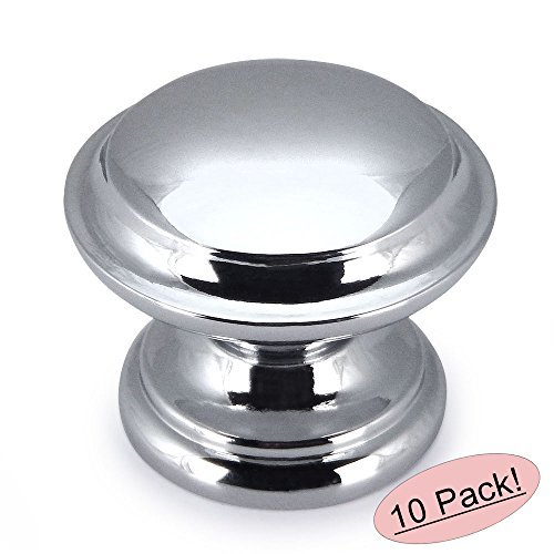10 Pack - Cosmas 4251CH Polished Chrome Cabinet Hardware Round Knob - 1-3/8
